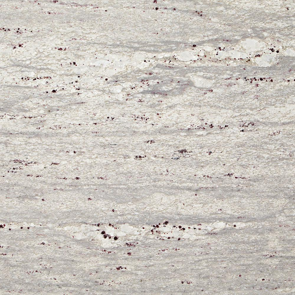 Stonemark Granite 3 in. x 3 in. Granite Countertop Sample in Thunder White