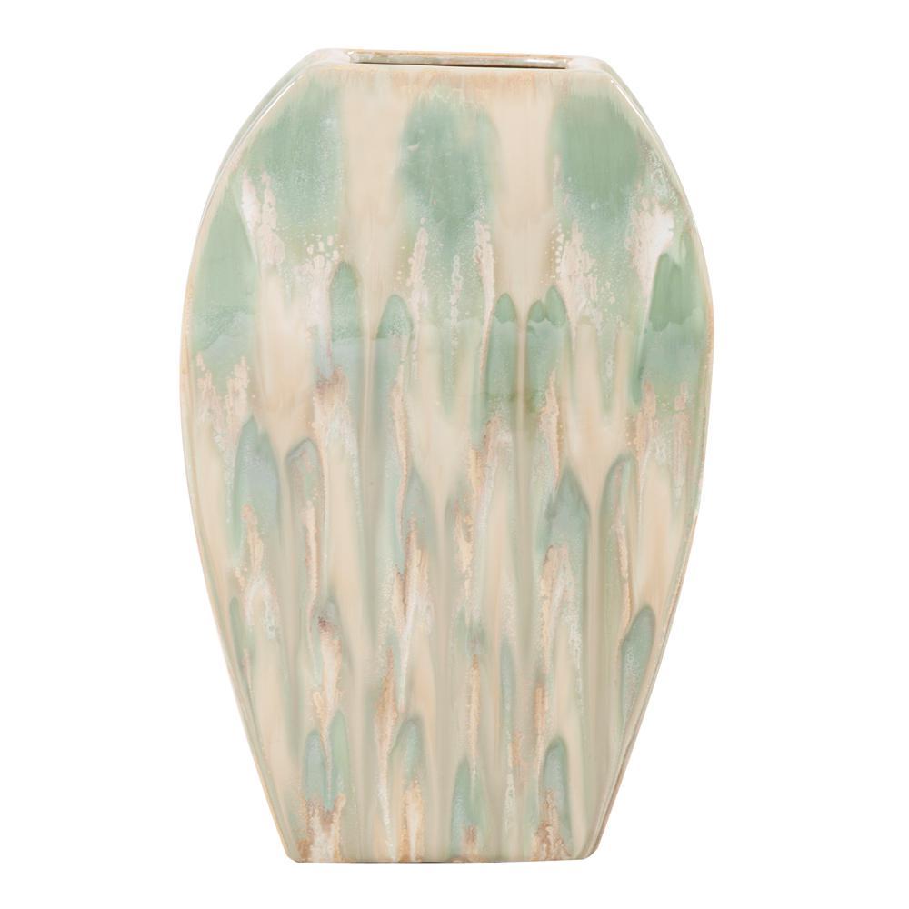 Ceramic Green Decorative Vase Large