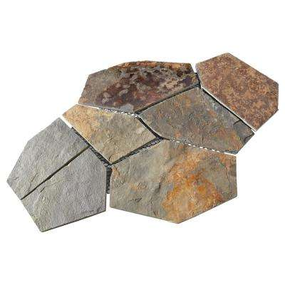 Natural Stone Collection Mongolian Spring 12 In X 24 Slate Flagstone Floor And