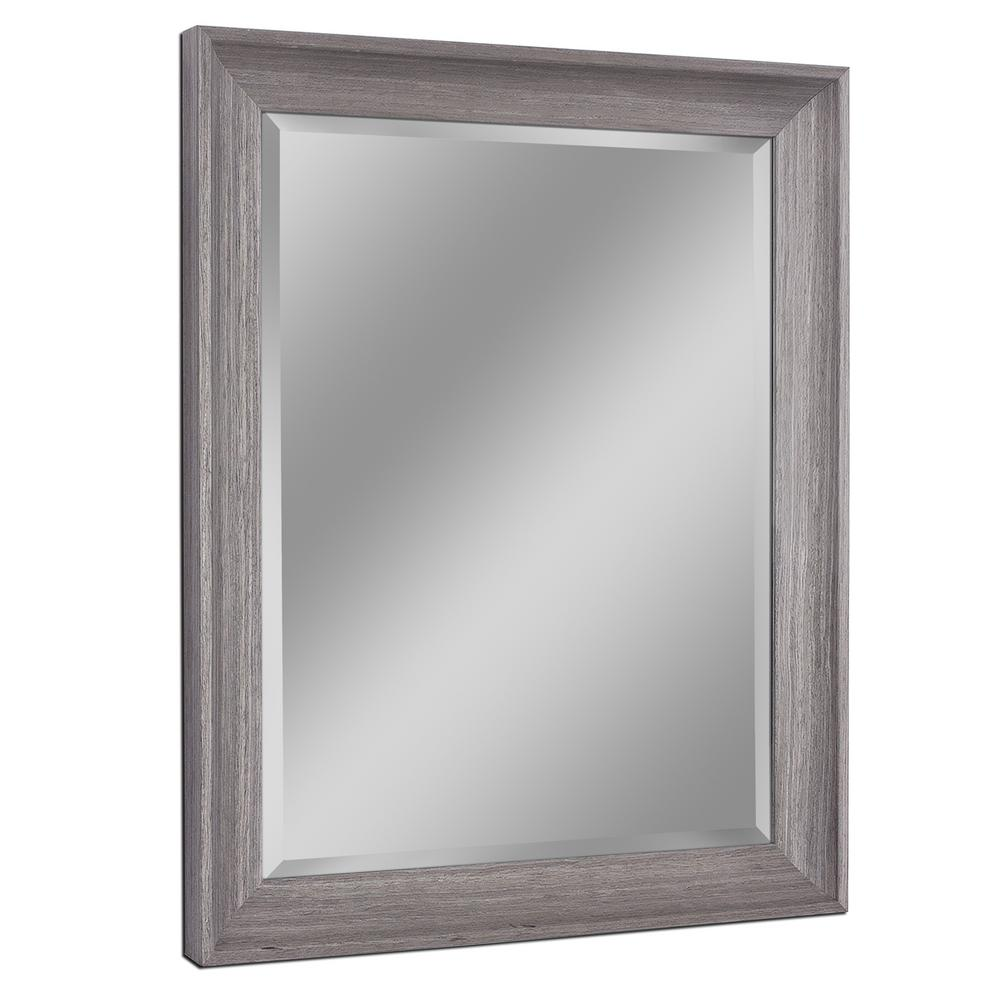 27 in. W x 33 in. H Transitional Driftwood Wall Mirror