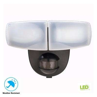 180 Degree Black Motion Activated Outdoor Integrated Led Twin Head Battery Ed Flood Light
