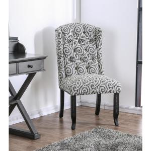 Terrific Edwards Gray Upholstered Patterned Accent Chair Set Of 2 Creativecarmelina Interior Chair Design Creativecarmelinacom
