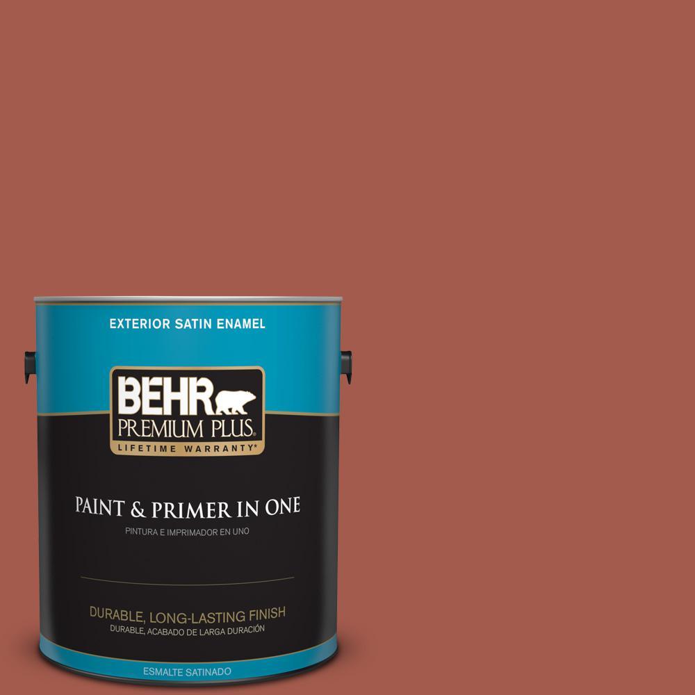 1 gal. #PPU2-15 Cajun Red Satin Enamel Exterior Paint