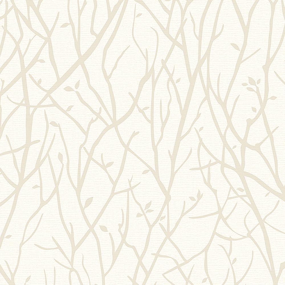 57.8 sq. ft. Kaden Ivory Branches Wallpaper