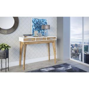 more photos 49763 b36c0 Manhattan Comfort Jackie 39.76 in. 3-Drawers White and ...