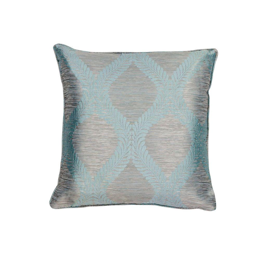kas rugs bordeaux blue grey decorative pillow pill24020sq the home depot. Black Bedroom Furniture Sets. Home Design Ideas