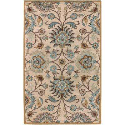 Amanda Ivory 3 ft. 6 in. x 5 ft. 6 in. Area Rug