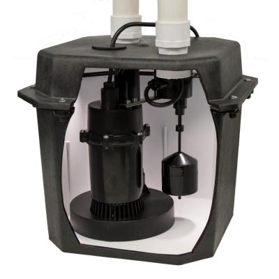 1/4 HP Pre-Plumbed Sink Tray System Sump Pump