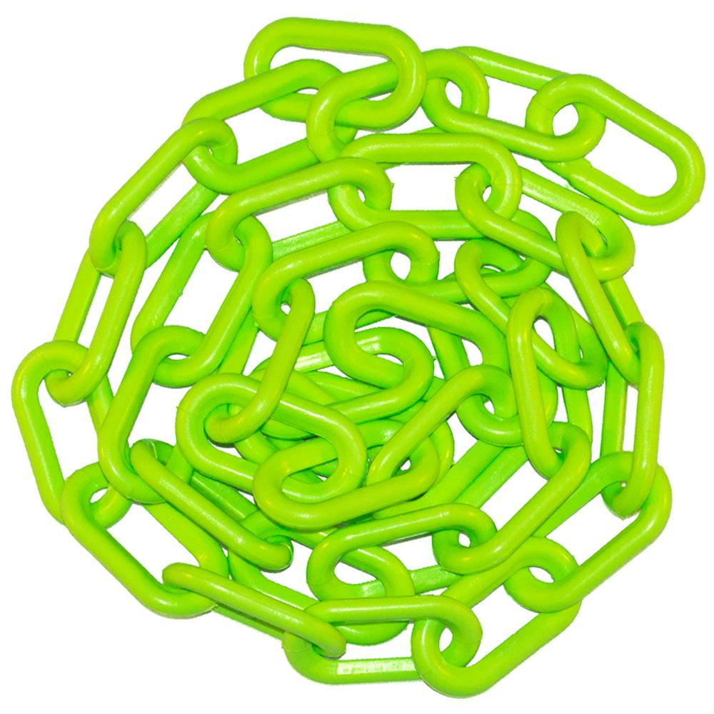 1.5 in. (#6, 38 mm) x 50 ft. Safety Green Plastic