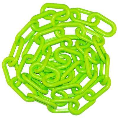 1.5 in. (#6, 38 mm) x 50 ft. Safety Green Plastic Chain