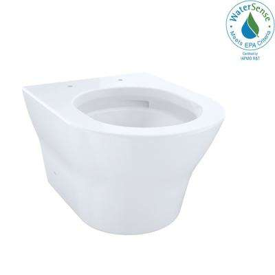 MH Wall-Hung 2-Piece 0.9/1.28 GPF Dual-Flush Elongated Toilet with CeFiONtect in Cotton White