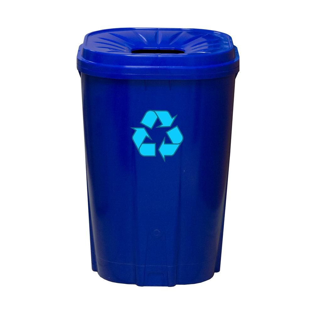 55 gal. Blue Recycling Bin
