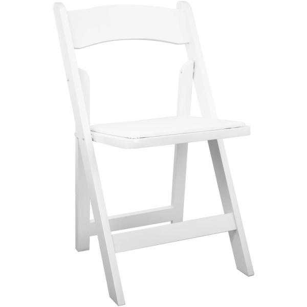 Advantage White Wood Folding Wedding Chair