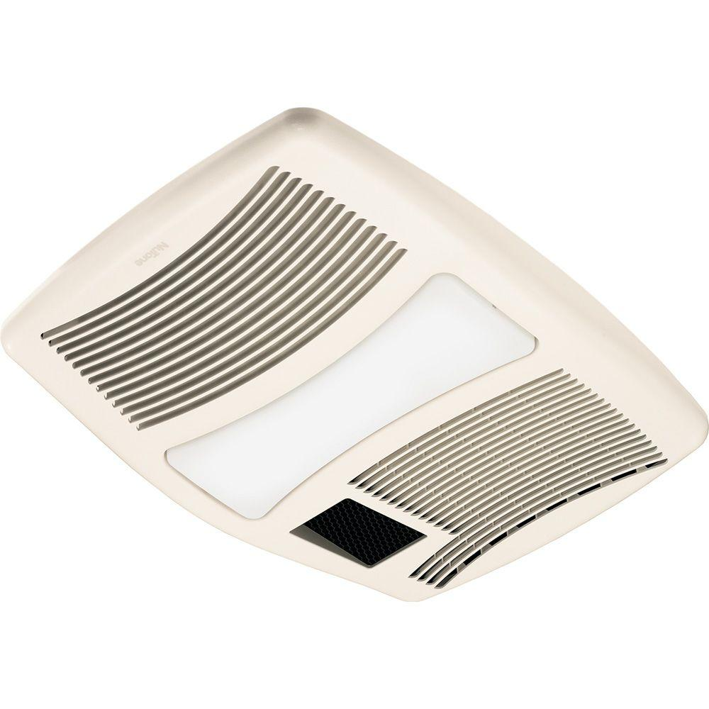 Qtx Series Very Quiet 110 Cfm Ceiling Exhaust Fan With Incandescent Light And Heater Qtxn110hl