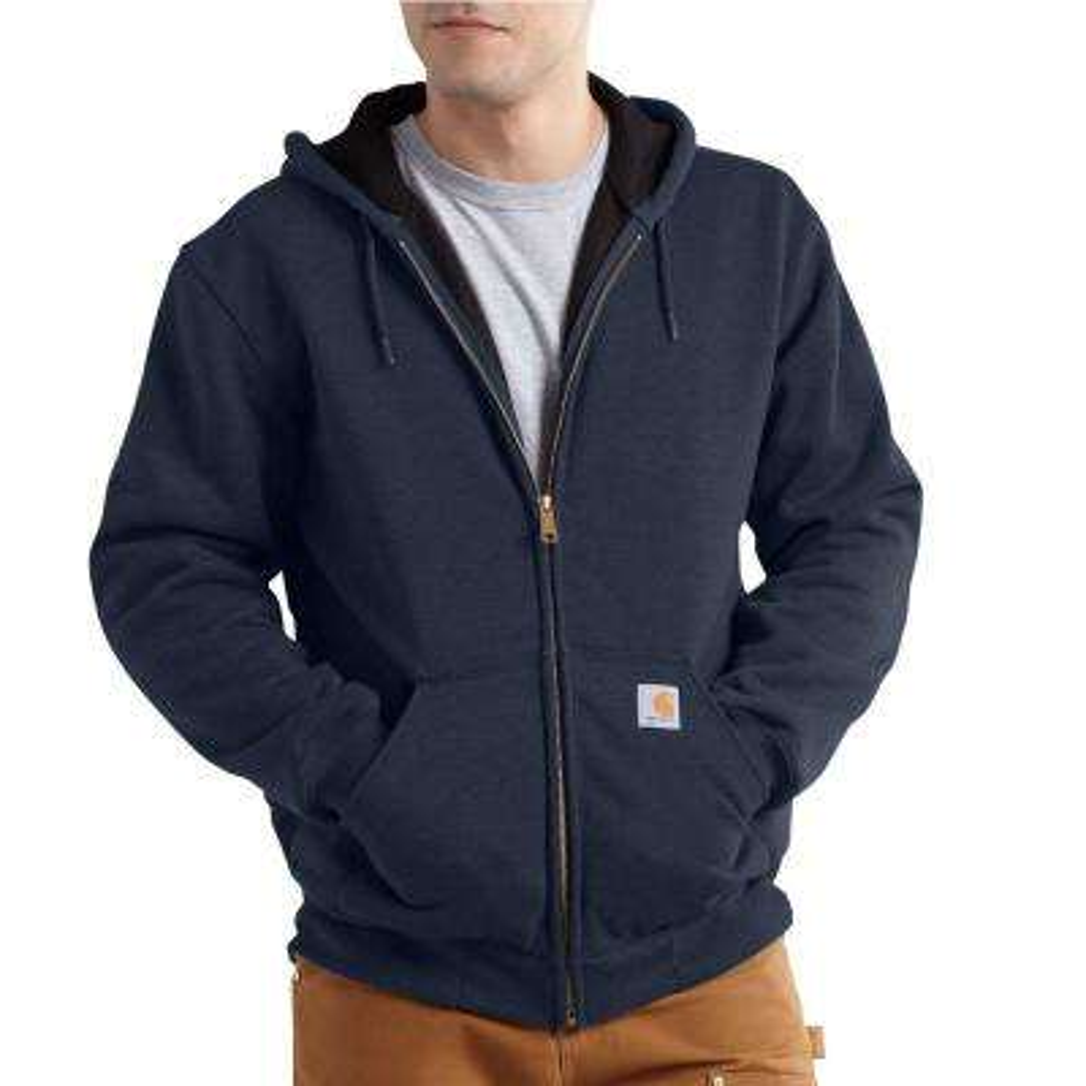 Men's 4 XLT New Navy Cotton/ Polyester RD Rutland Thrml Lnd Hdd Zfnt Swtsh