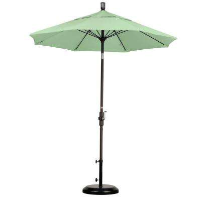7-1/2 ft. Fiberglass Collar Tilt Double Vented Patio Umbrella in Spa Pacifica