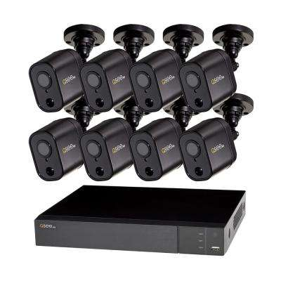 8-Channel 1080p 1TB Video Surveillance DVR System with 8 PIR Cameras