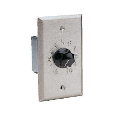 1-Gang 20-Watt Attenuator Wall Plate - Stainless Steel