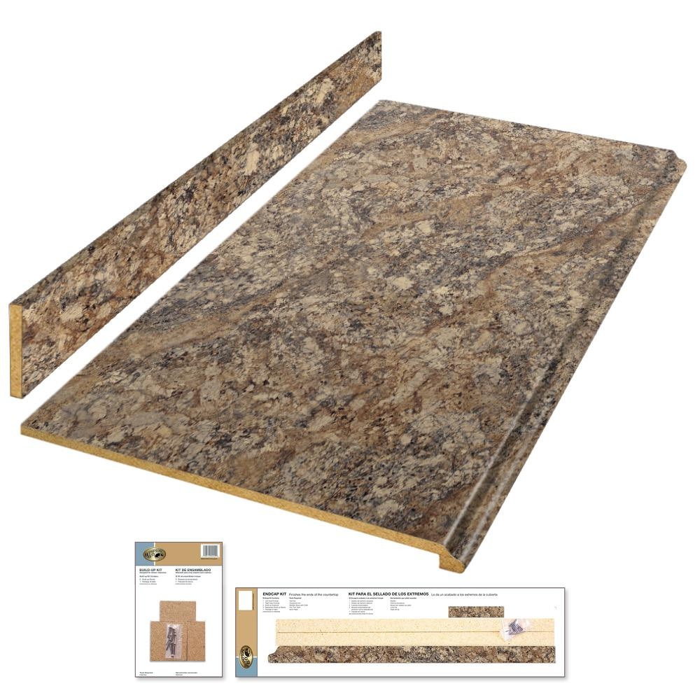 Laminate Countertop Kit In Winter Carnival With Premium Quarry Finish And