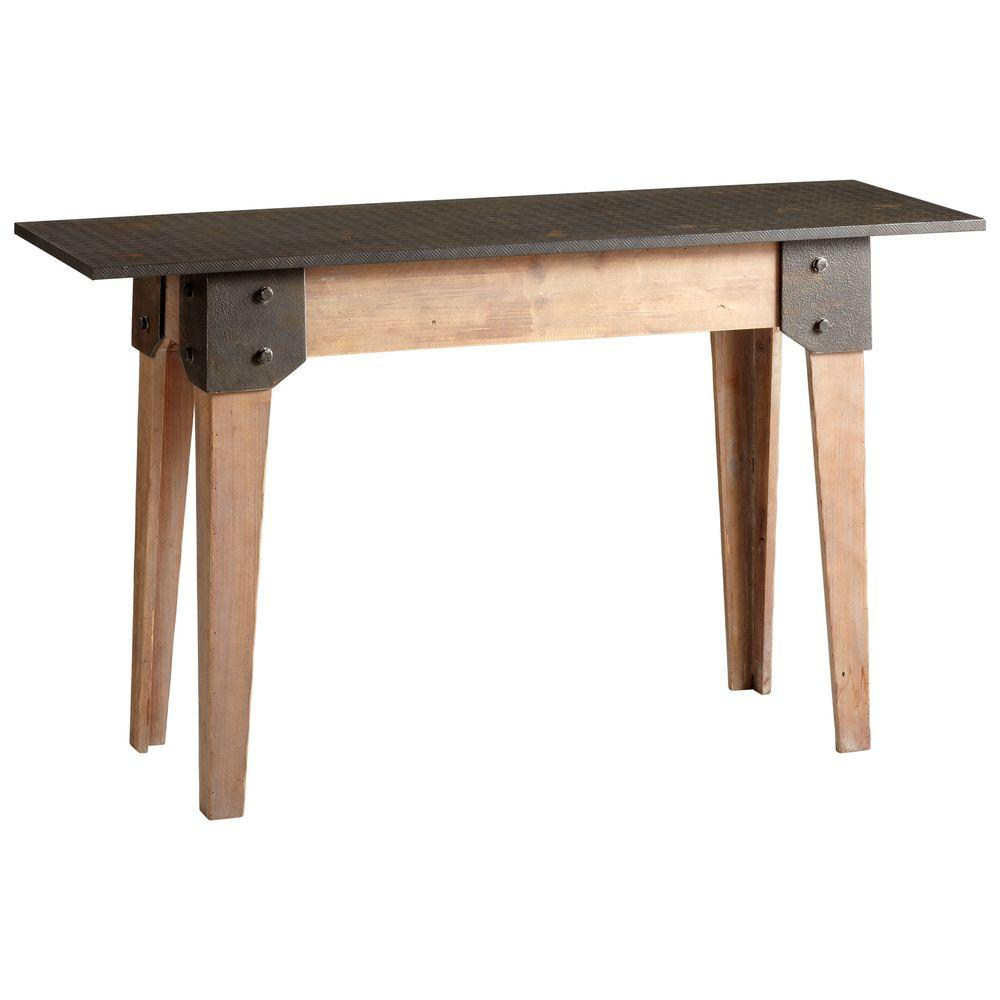 Filament Design Prospect Rectangle Table in Raw Iron and Natural Wood