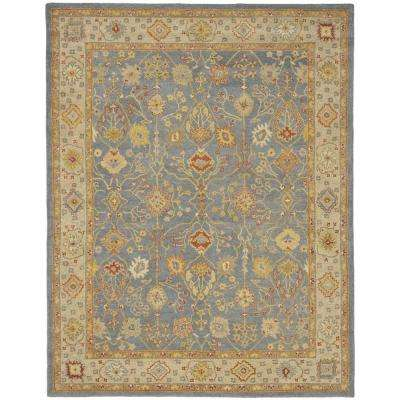Antiquity Blue/Ivory 8 ft. 3 in. x 11 ft. Area Rug