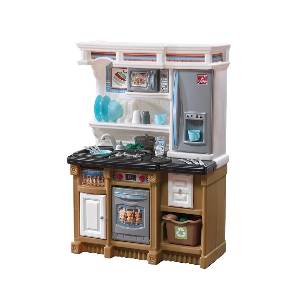 step2 lifestyle custom kitchen playset 856900 the home depot rh homedepot com  step 2 kids kitchen playsets
