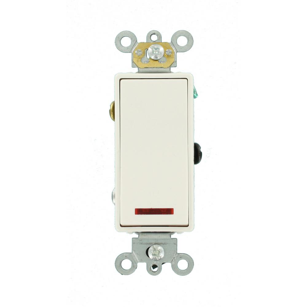 Leviton 20 Amp Decora Plus Commercial Grade Single Pole Rocker ...