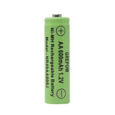 Rechargeable 600mAh NiMH AA Batteries for Solar-Powered Units (4-Pack)