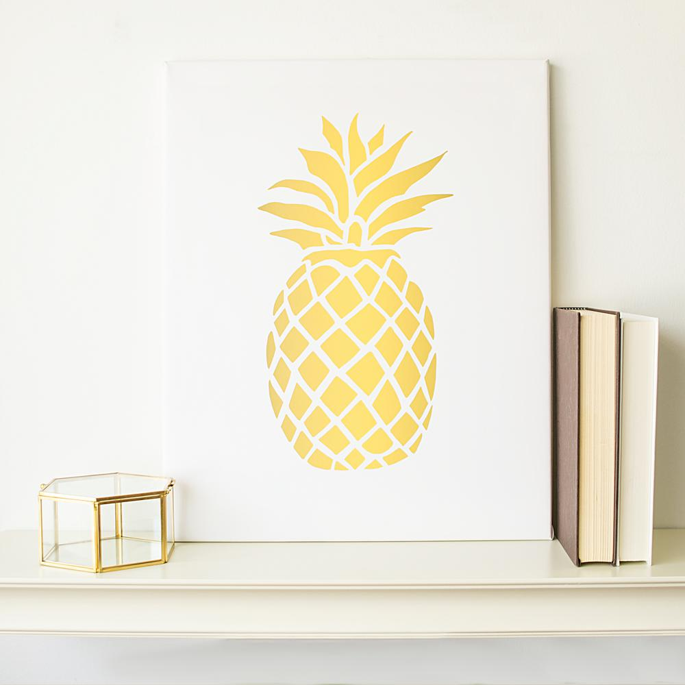 20 in. x 16 in. Pineapple Printed Canvas Wall Art-PIN-2109-ST - The ...