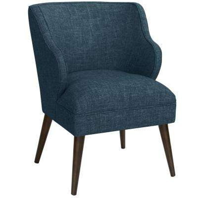 Blue Mid Century Modern Chairs Living Room Furniture The