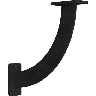 2 in. x 11 in. x 11 in. Steel Hammered Black Bradford Bracket
