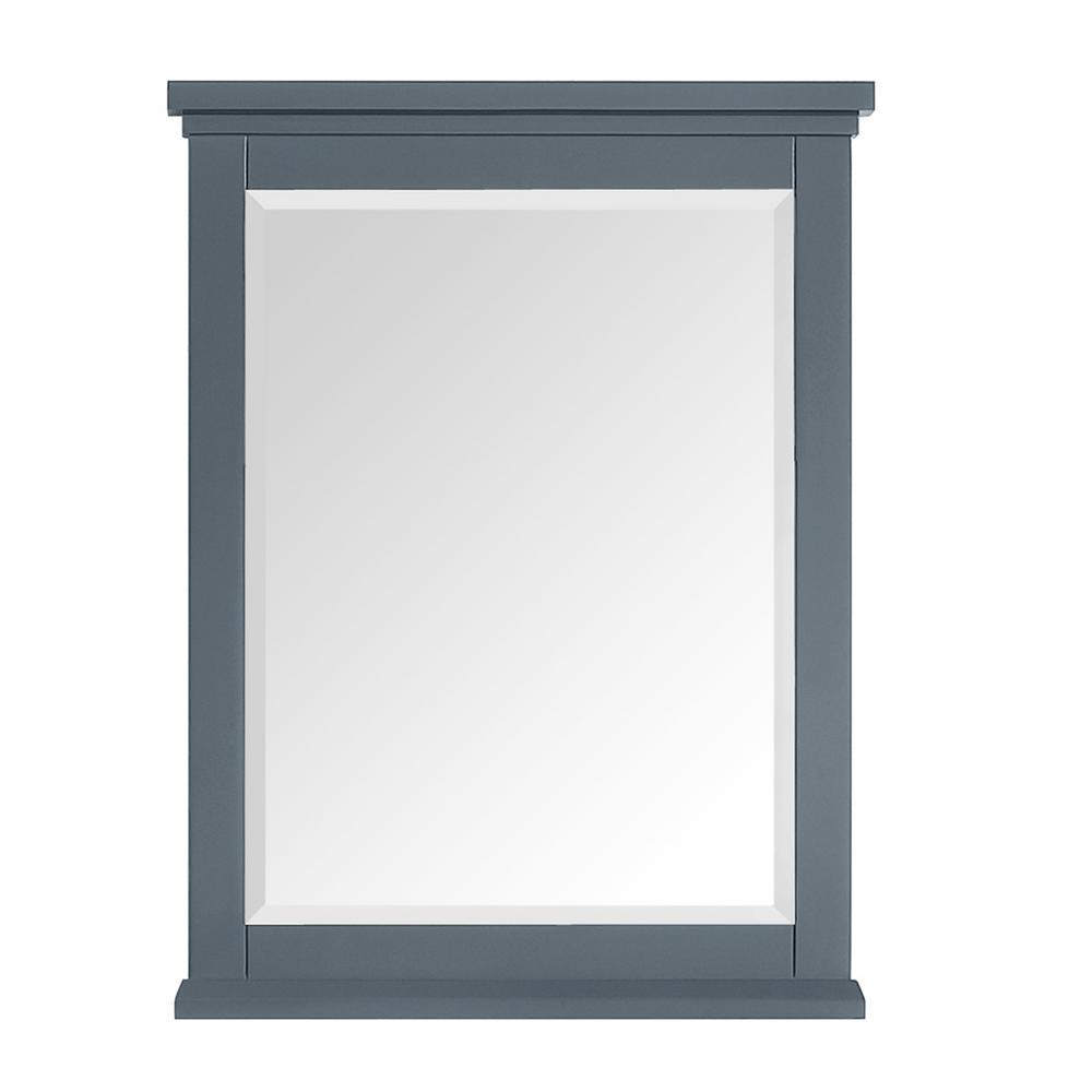 Merryfield 24 in. W x 32 in. H Framed Wall Mounted Mirror in Dark Blue-Gray