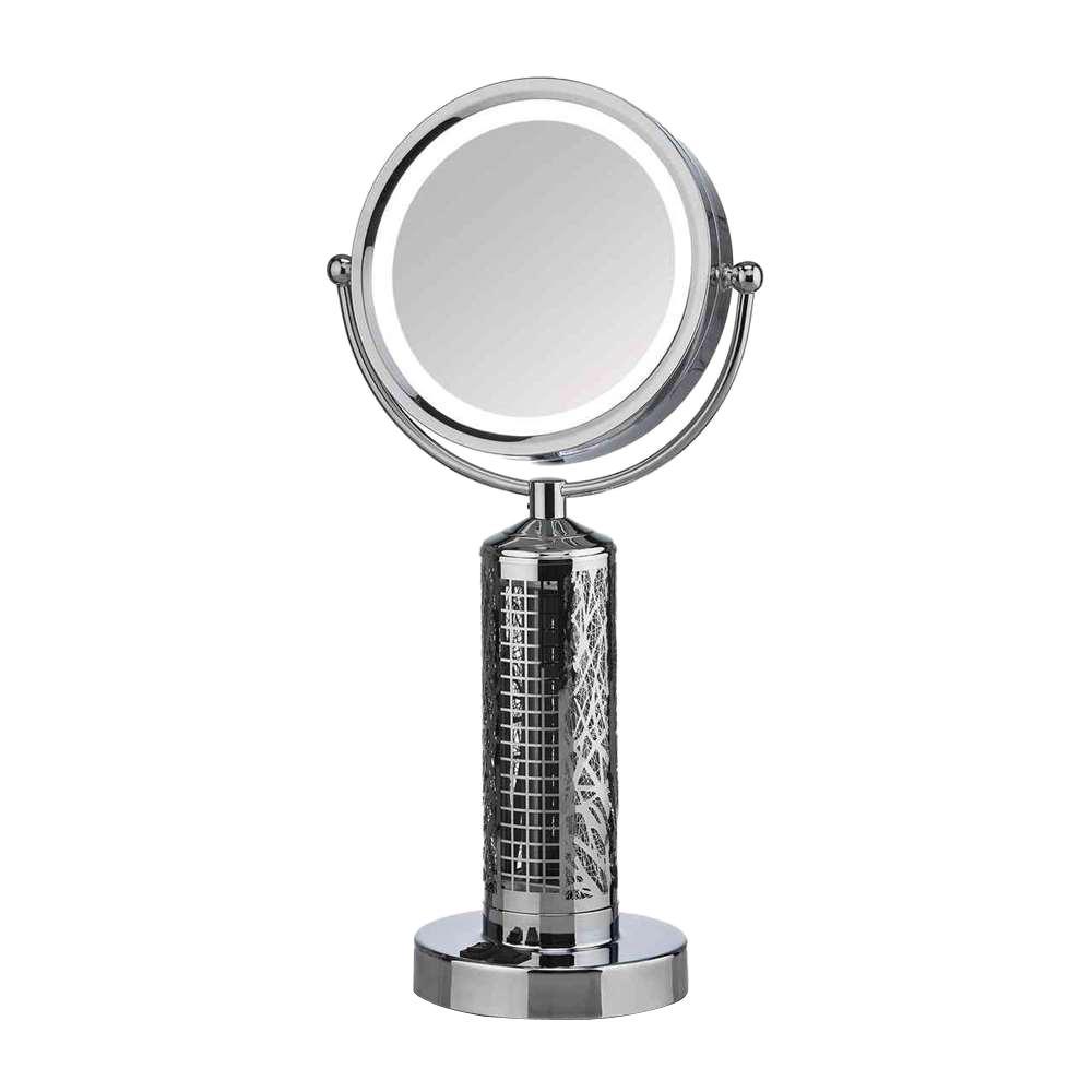 Fanity 10.25 in. LED Fan with Mirror in Chrome