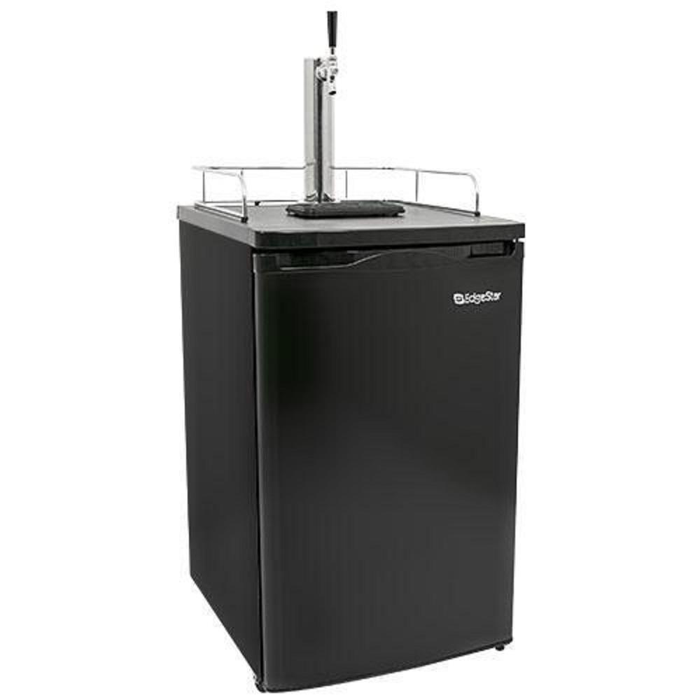 Single Tap 20 in. Full Size Beer Keg Dispenser in Stainless Steel