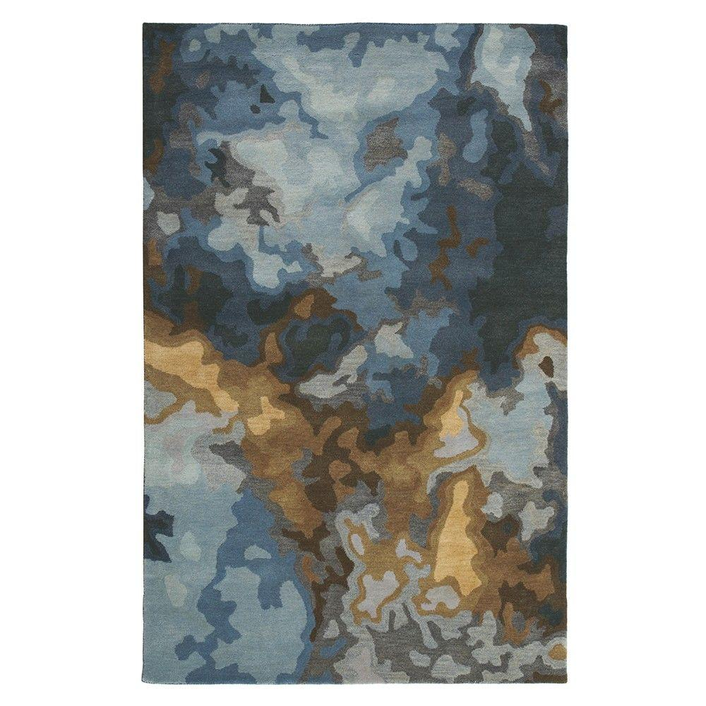Home Decorators Collection Tides Blue 8 ft. x 11 ft. Area Rug
