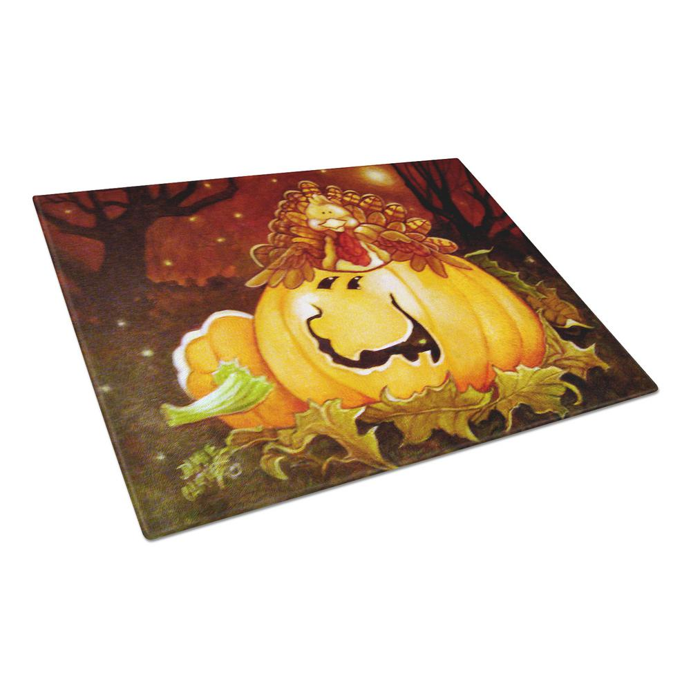 Caroline's Treasures Somebody to Love Pumpkin Halloween Tempered Glass Large Cutting Board, Multi-Color