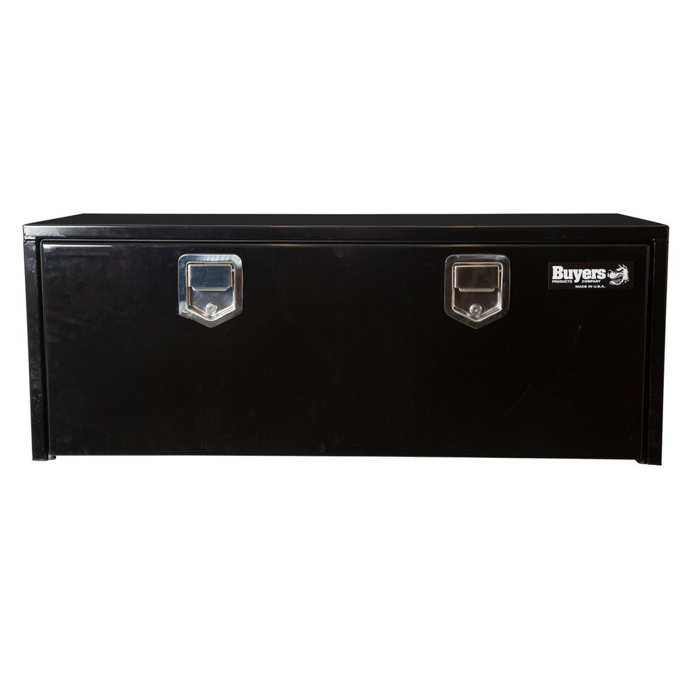 Buyers Products Company Black Steel Underbody Truck Box with Paddle Latch, 18 in. x 18 in. x 48