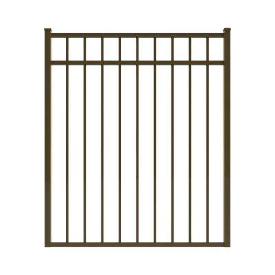 Vinings 4 ft. W x 4.5 ft. H Bronze Aluminum Pre-Assembled Fence Gate