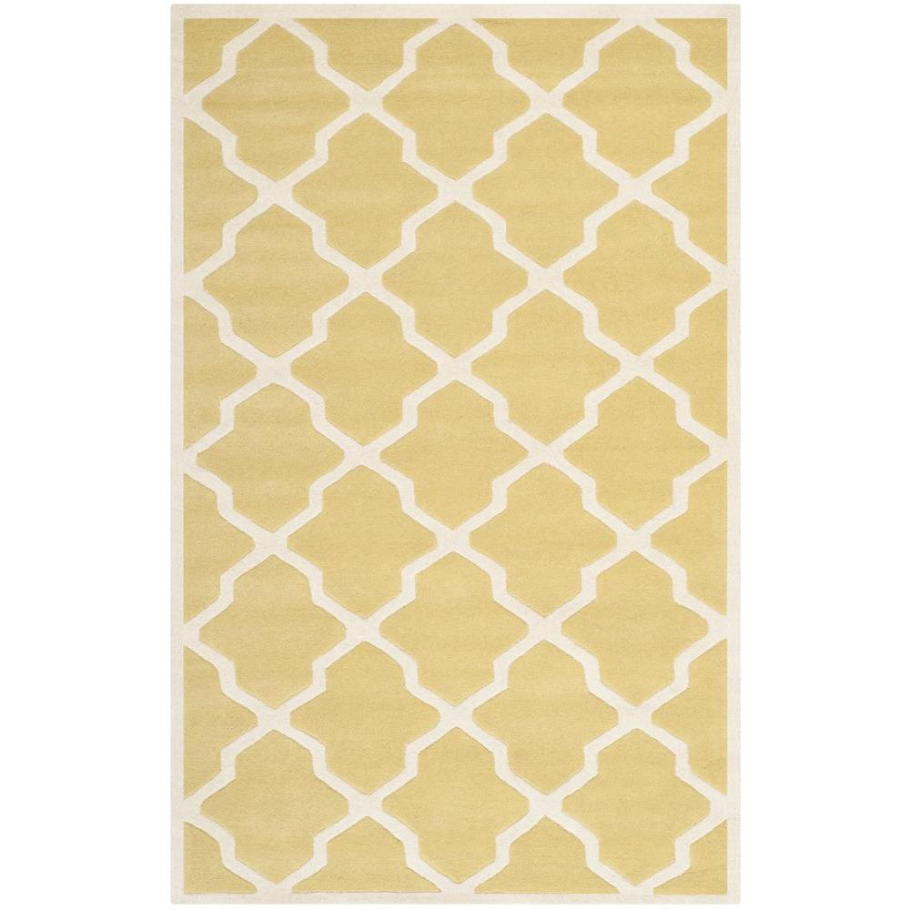 Chatham Light Gold/Ivory 6 ft. x 9 ft. Area Rug