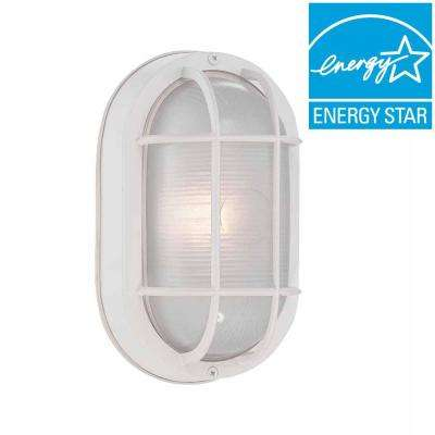 White Outdoor LED Wall Lantern
