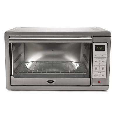 1500 W 4-Slice Brushed Stainless Programmable Toaster Oven