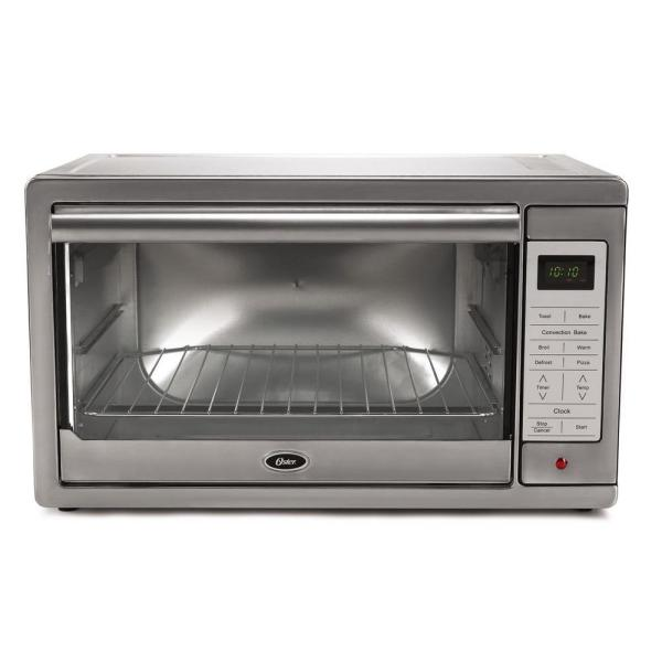Oster 1500 W 4-Slice Brushed Stainless Programmable Toaster Oven