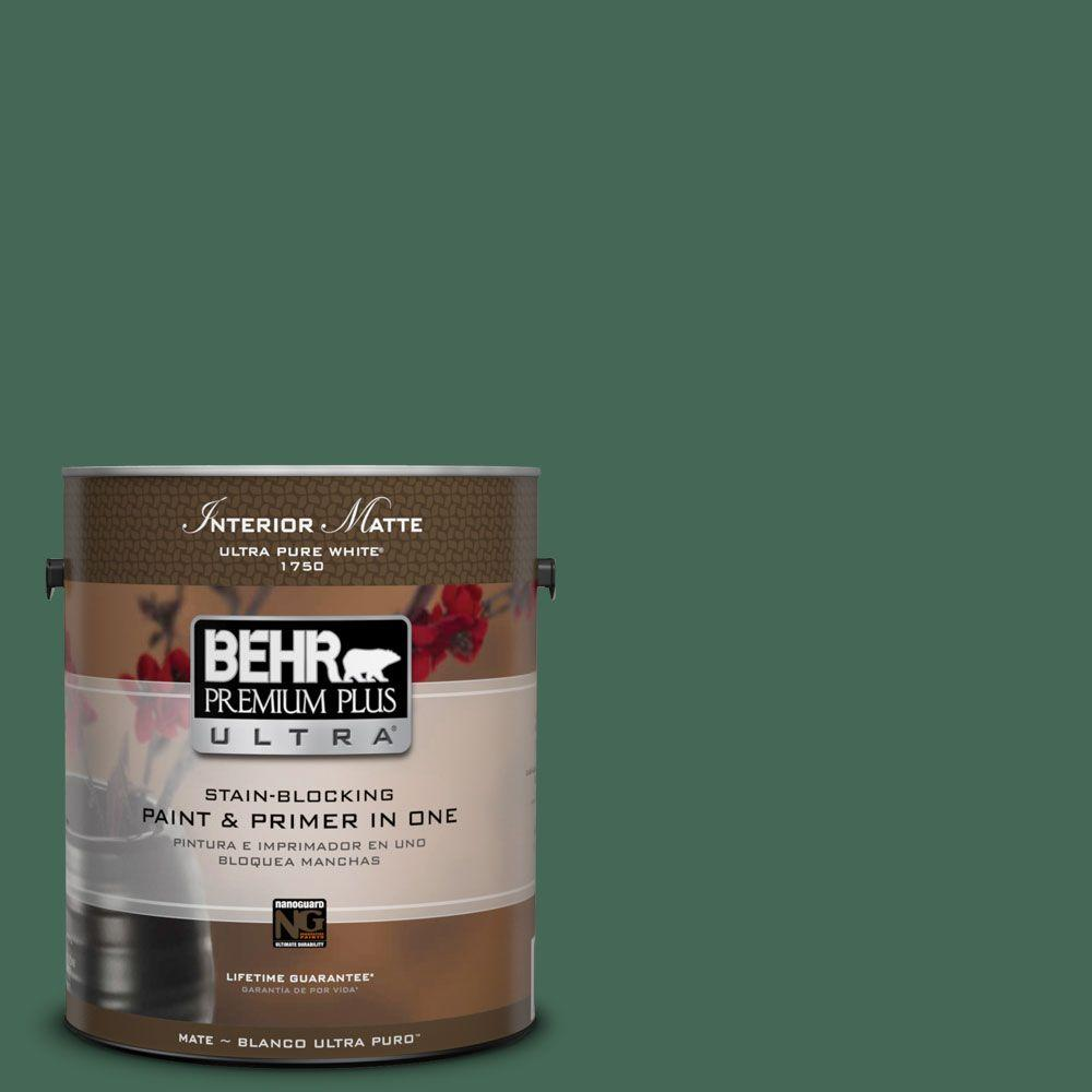 1 gal. #M420-7 Billiard Green Matte Interior Paint