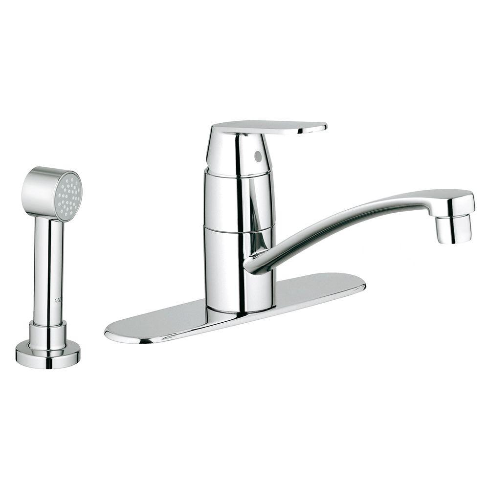 GROHE Eurosmart Cosmopolitan Single-Handle Side Sprayer Kitchen ...