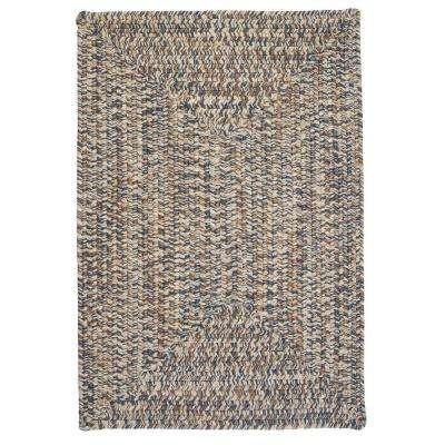 Wesley Lake Blue 4 ft. x 6 ft. Rectangle Braided Area Rug