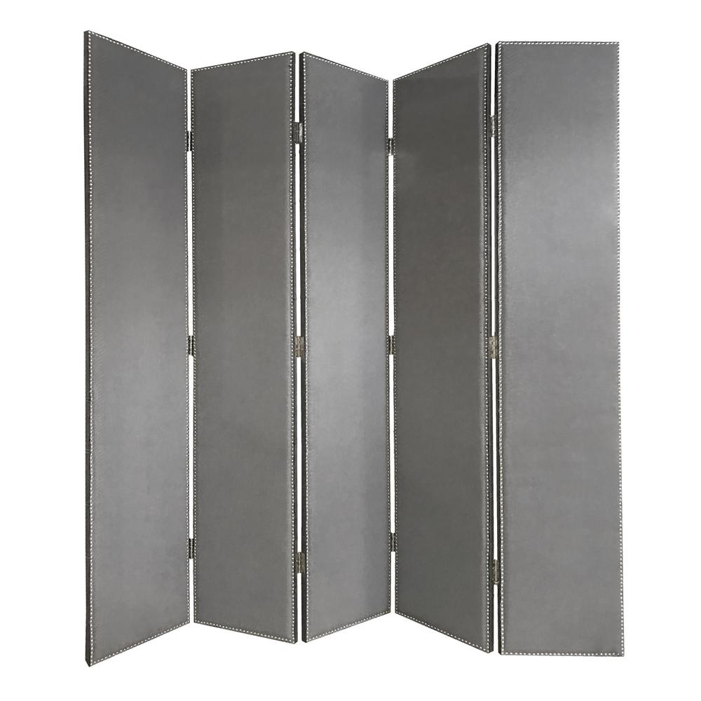 Screen Gems Gray Panel Room Divider Grey