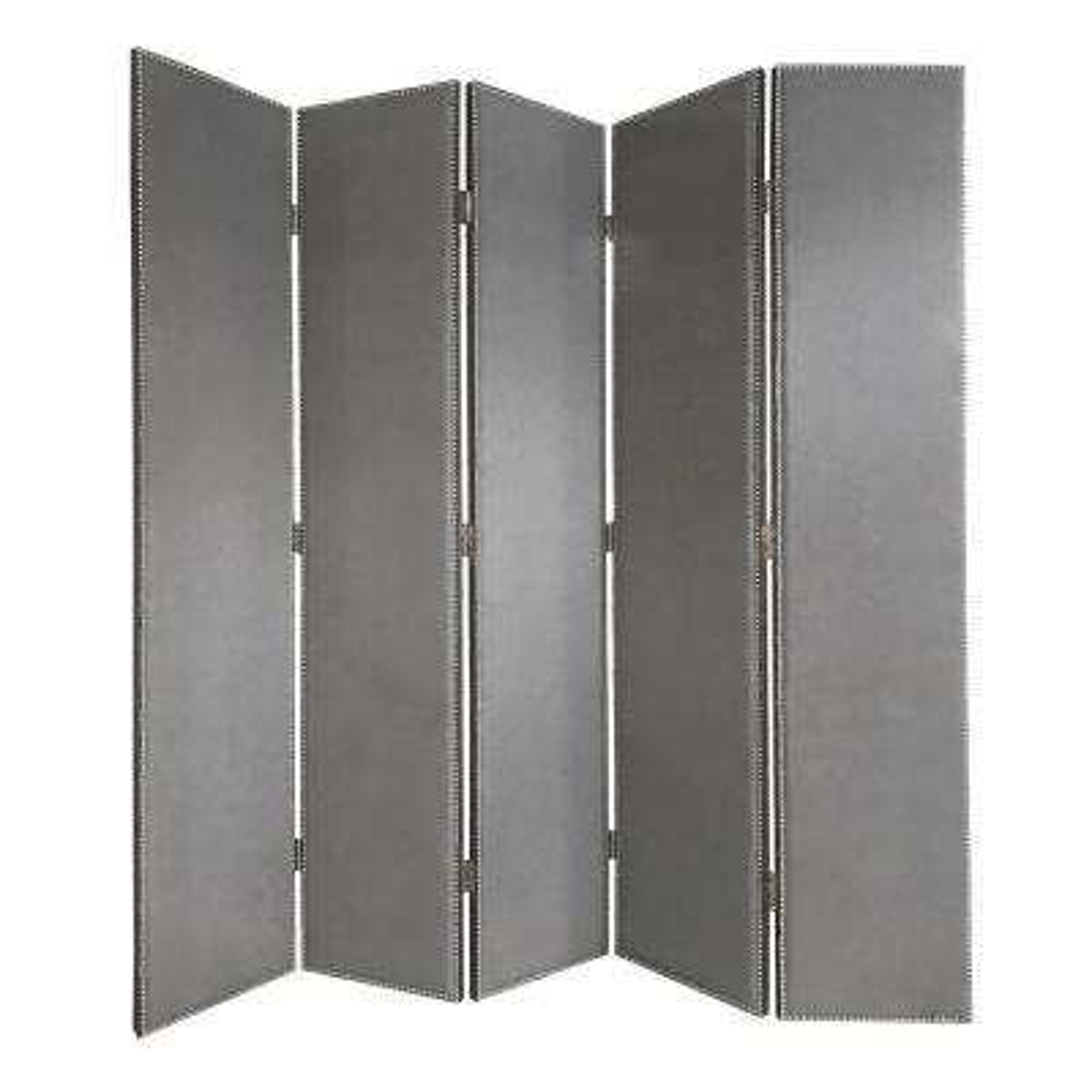 Screen Gems Verona 9 ft Gray 5 Panel Room Divider Grey Price Tracking