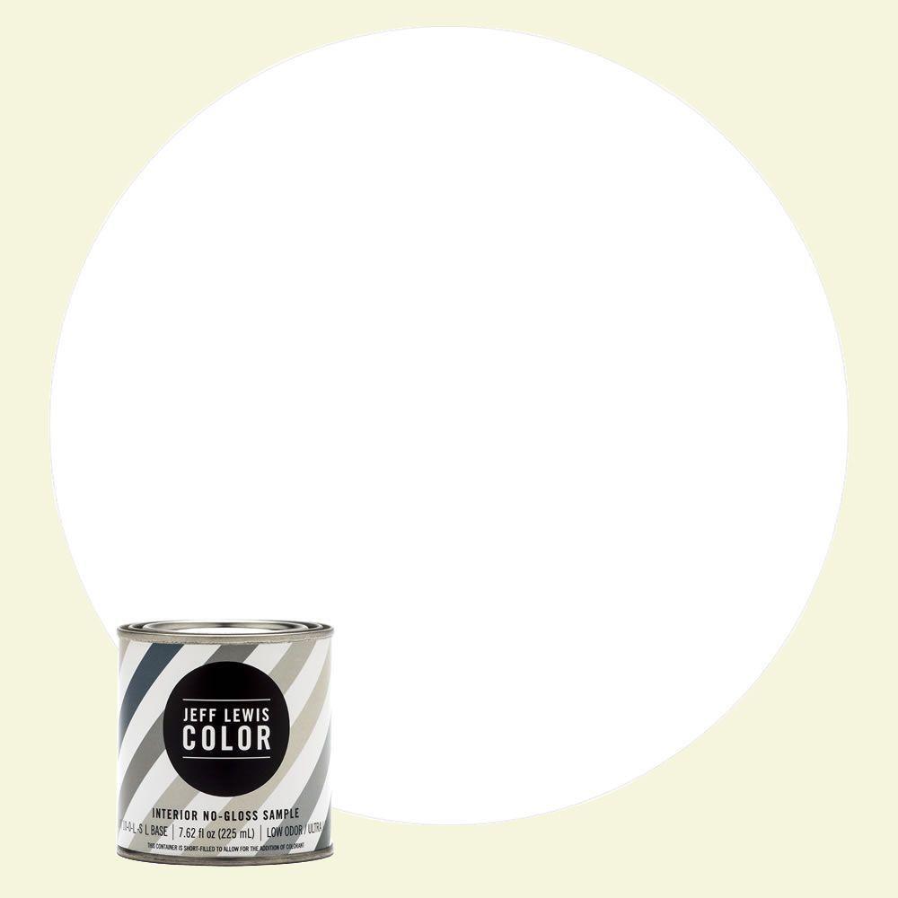 8 oz. #JLC610 White Collar No-Gloss Ultra-Low VOC Interior Paint Sample