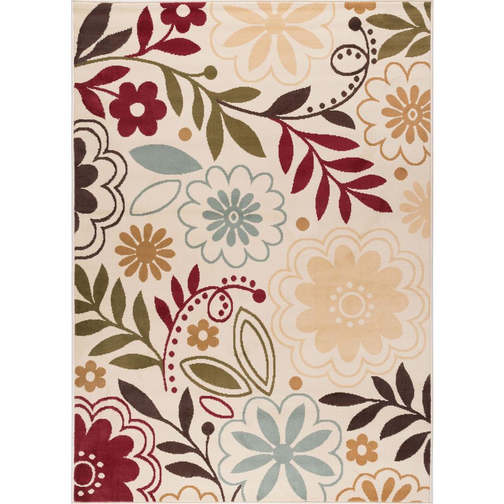 tayse rugs laguna beige 5 ft x 7 ft contemporary area rug 4542 beige 5x7 the home depot. Black Bedroom Furniture Sets. Home Design Ideas