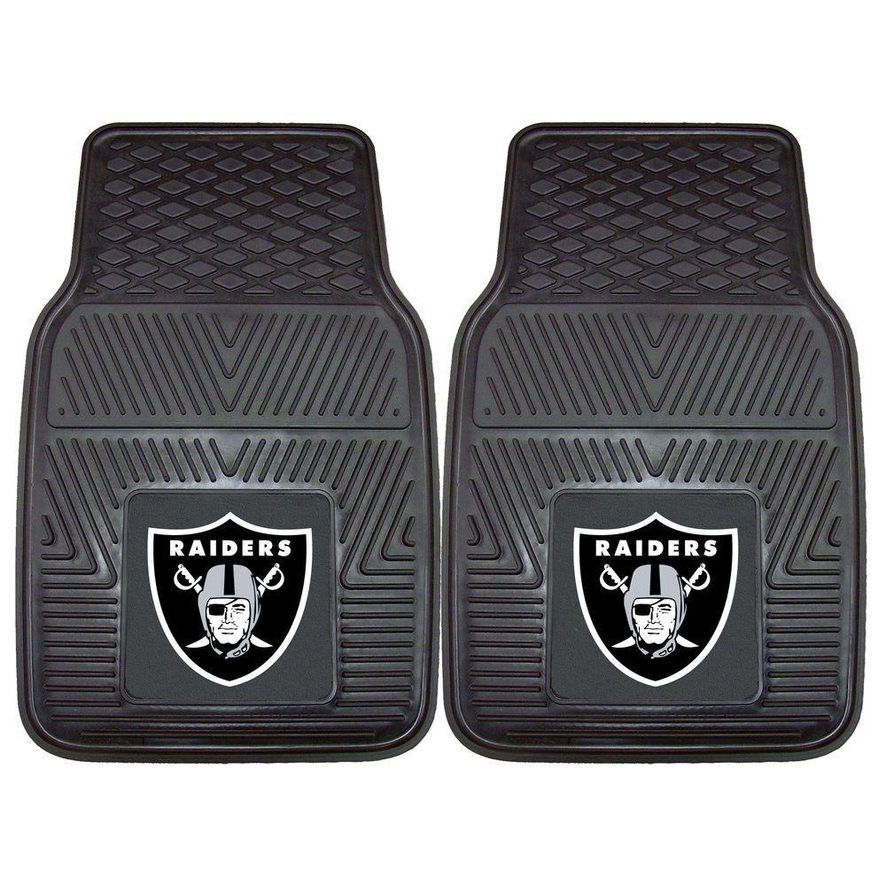 Oakland Raiders 18 in. x 27 in. 2-Piece Heavy Duty Vinyl Car Mat